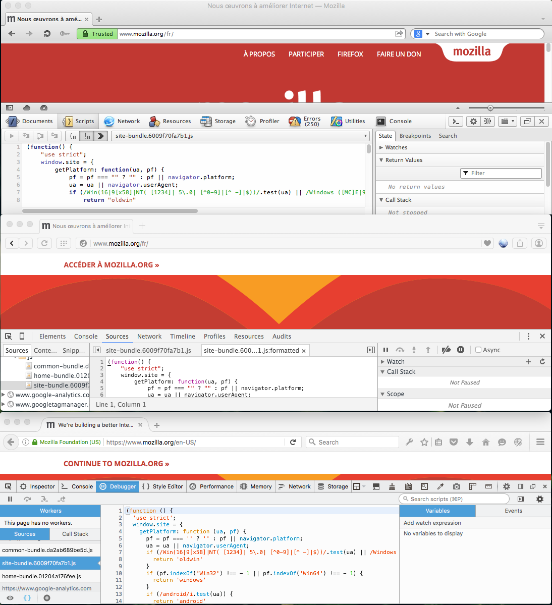 Developer Tools on Presto, Blink and Gecko