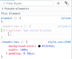 outline css rule
