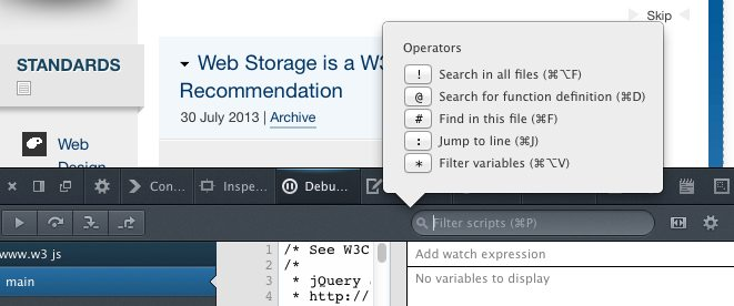 Firefox 22 dev tool search