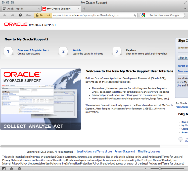 Oracle on click