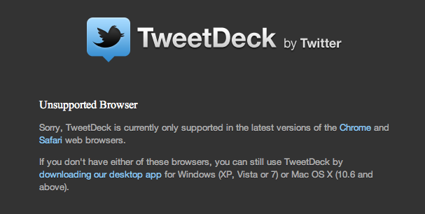 Tweetdeck Fail